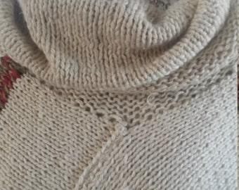 Hemp and wool shawl