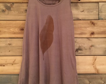 Feather Tank in Brown