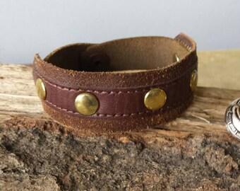 Repurposed belt liner bracelet