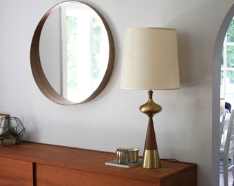 Tony Paul for Westwood Solid Brass and Walnut Table Lamp