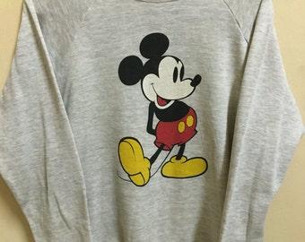 Vintage 90's Mickey Walt Disney Tokyo Disneyland Cartoon Classic Design Skate Sweat Shirt Sweater Varsity Jacket Size XL #A288