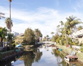 Venice, California, Venice Canals, Palm Trees, Boats, Los Angeles, Wall Art, Print, Photograph, Fine Art, Reflection