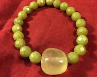 Vintage Calcite Stone Beaded Bracelet