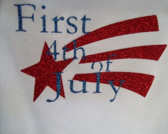 First 4th of July T-shirt or onesie
