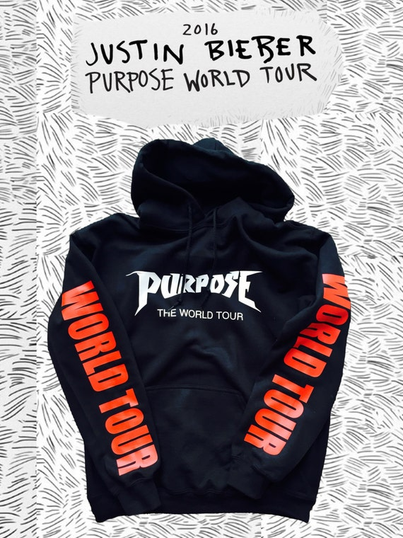 justin bieber the world tour hoodie purpose tour by. Black Bedroom Furniture Sets. Home Design Ideas