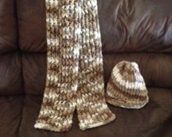 Handmade Scarf and hat set