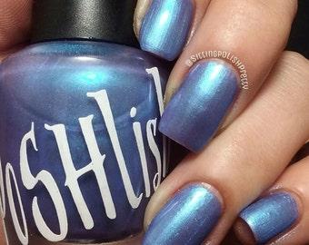 "Unique ""Paradise Pearl"" Blue - Mauve Nail Polish Full Size 15ml Bottle"
