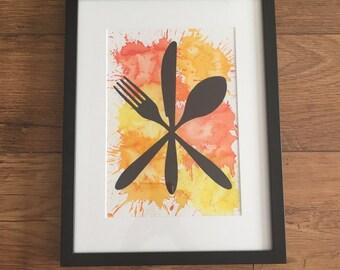 Cutlery A4 Print