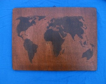 """Painting wooden World """"made by hand"""""""