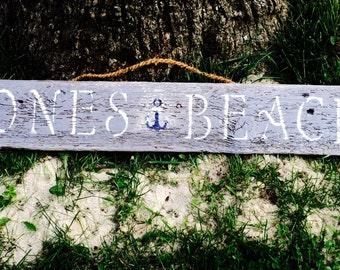 Jones Beach Driftwood Sign