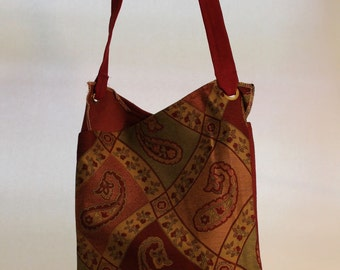 Large Paisley Print Bag Item #B43