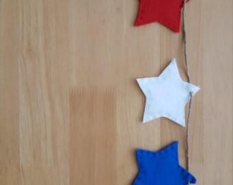 Red White & Blue Star Banner