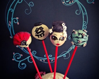 Geisha Cake Pop Set (4 pops)