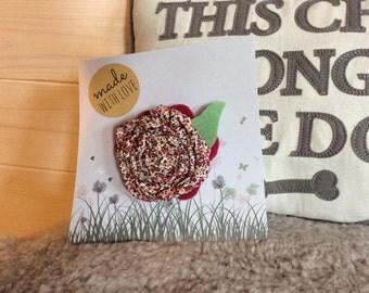 Dog Flower Rosette, Slips onto Collar, Handmade