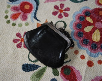 Black leather purse 1920