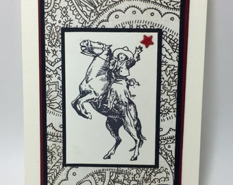 Cowgirl Notecards - Western - Rodeo - Handmade