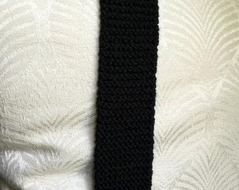 Skinny Knit Tie/ Black