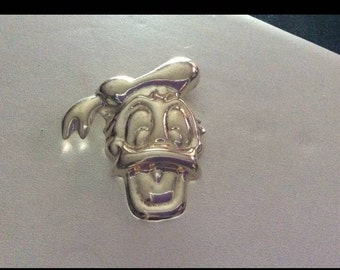 Vintage Signed Mexico Sterling Silver Donald Duck Brooch!!!