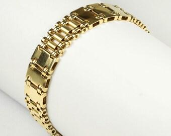 """FIBO Gold Bracelet - 14K Italian 8"""""""