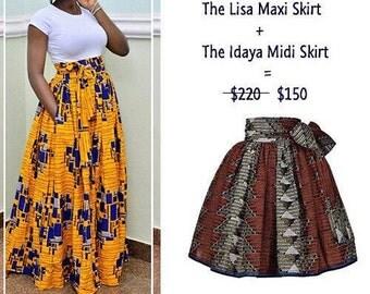 African midi skirt | Etsy