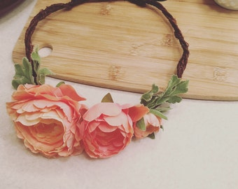 Custom Faux Floral Crown