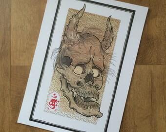 Hannya skull print