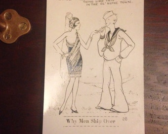 Pre WWII funny Postcard