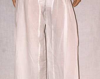 Harem Pants, Summer White Pants, Harem White Trousers, Beach Cover Up, Size S/M, Pantalone Harem Bianco, Pantalone Estivo Bianco, Tg S/M