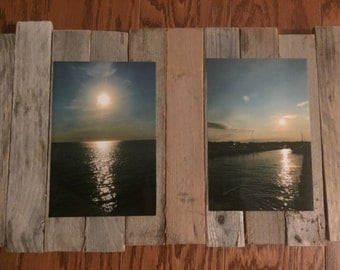 Reclaimed Wood Double Sunset Frame