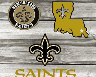 Saints-State Silhouette-Football-Vinyl Car Decal-Coffee Mug-Canvas-Decor-