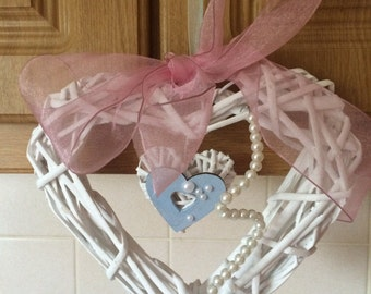 hanging hearts for church wedding
