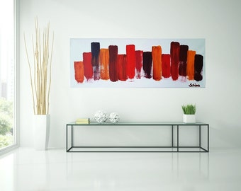 Abstract painting, acrylic, red, painting, art, painting, original art by Camilla Schima