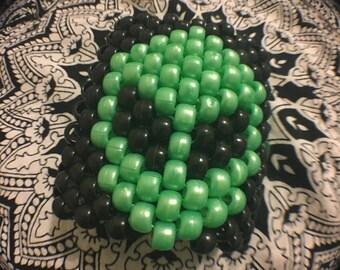 Green alien kandi cuff