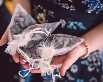Dried Hydrangea Petal Confetti (4 bags)