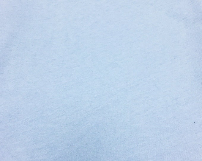 Jersey Knit Fabric By The Yard (Wholesale Price Available By The Bolt) USA Made Premium Quality - 2530 Lt Blue - 1 Yard