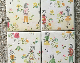 Flower Girl Coasters
