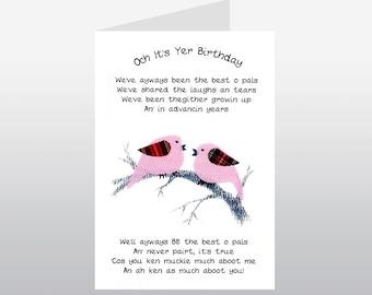 Friend Birthday Card Old Pals WWBI07