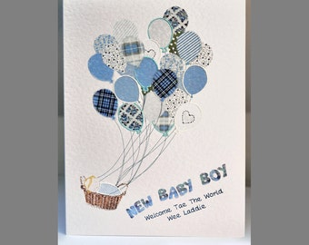 Special Wishes Large New Baby Boy Balloons Card SW BA05