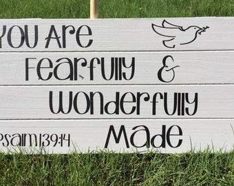 """Fearfully Made 19""""x9"""" Wooden Sign"""