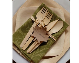 Wooden Utensils FORKS - Biodegradable - DIY Wedding - Birthday - Large Party. Made of Birch Wood