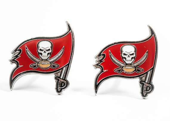 Tampa Bay Buccaneers Cuff Links -- FREE SHIPPING with USPS First Class Domestic Mail