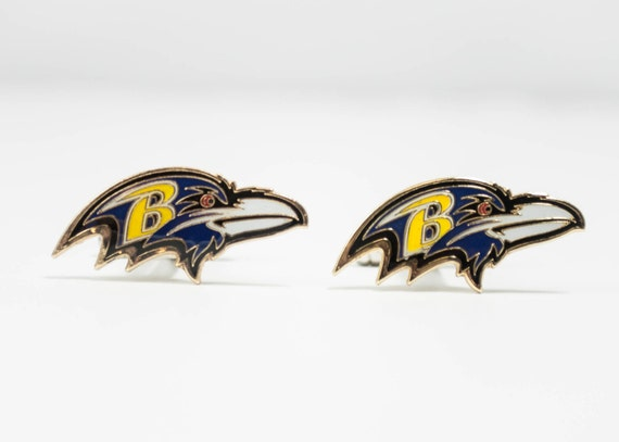 Baltimore Ravens Cuff Links -- FREE SHIPPING with USPS First Class Domestic Mail