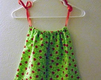 Ladybug Pillowcase Dress 12-18M