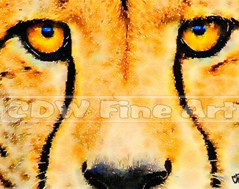 Cheetah - Limited Edition Print of my original Water Colour Painting