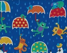 Raining Cats and Dogs with umbrellas, Timeless Treasures