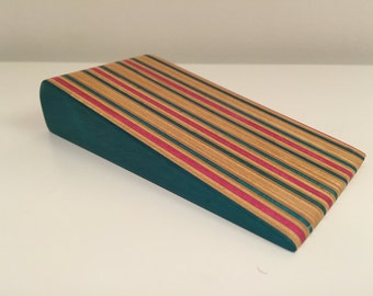 Door Wedge, hand made from recycled skateboards