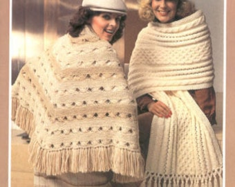 Brunswick 780 Shawls and Stoles Crochet Pattern Booklet 5 Patterns