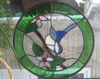Chickadee in Stained Glass