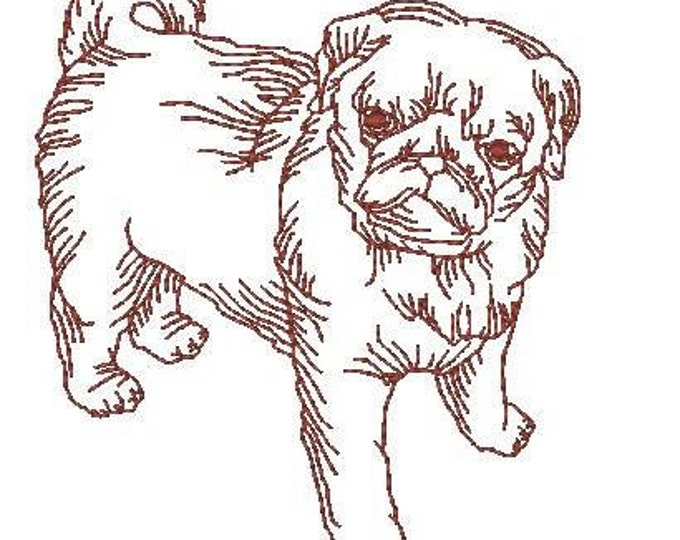 Pug Dogs  ( 10 Machine Embroidery Designs from ATW )