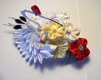 Hair pin with White Swan